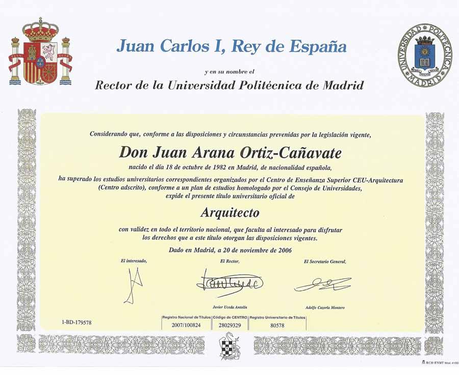 Juan arana titulos - Trabajo para arquitectos en espana ...