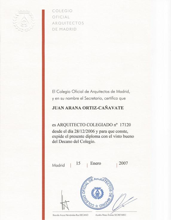 Colegiado nº 17.120 del COAM