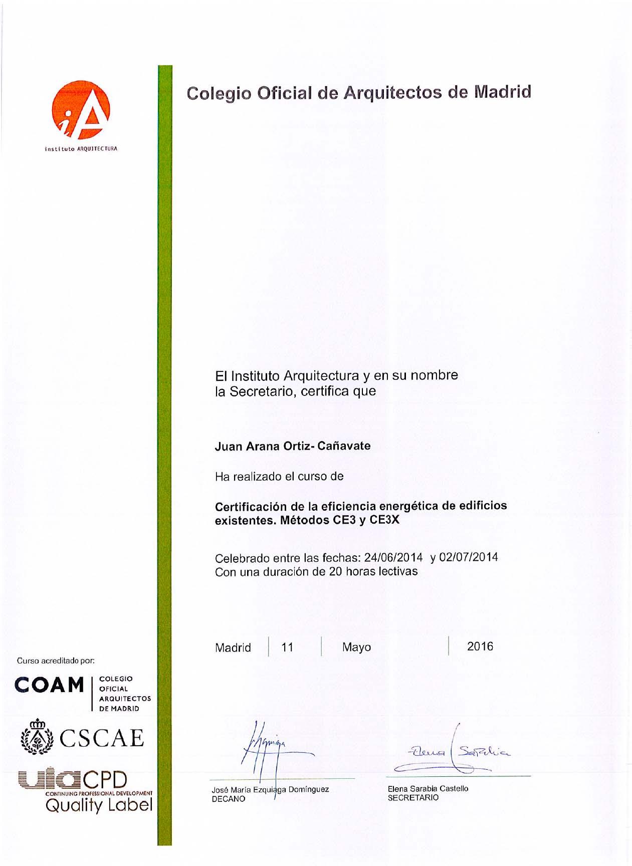 Certificación Energética I