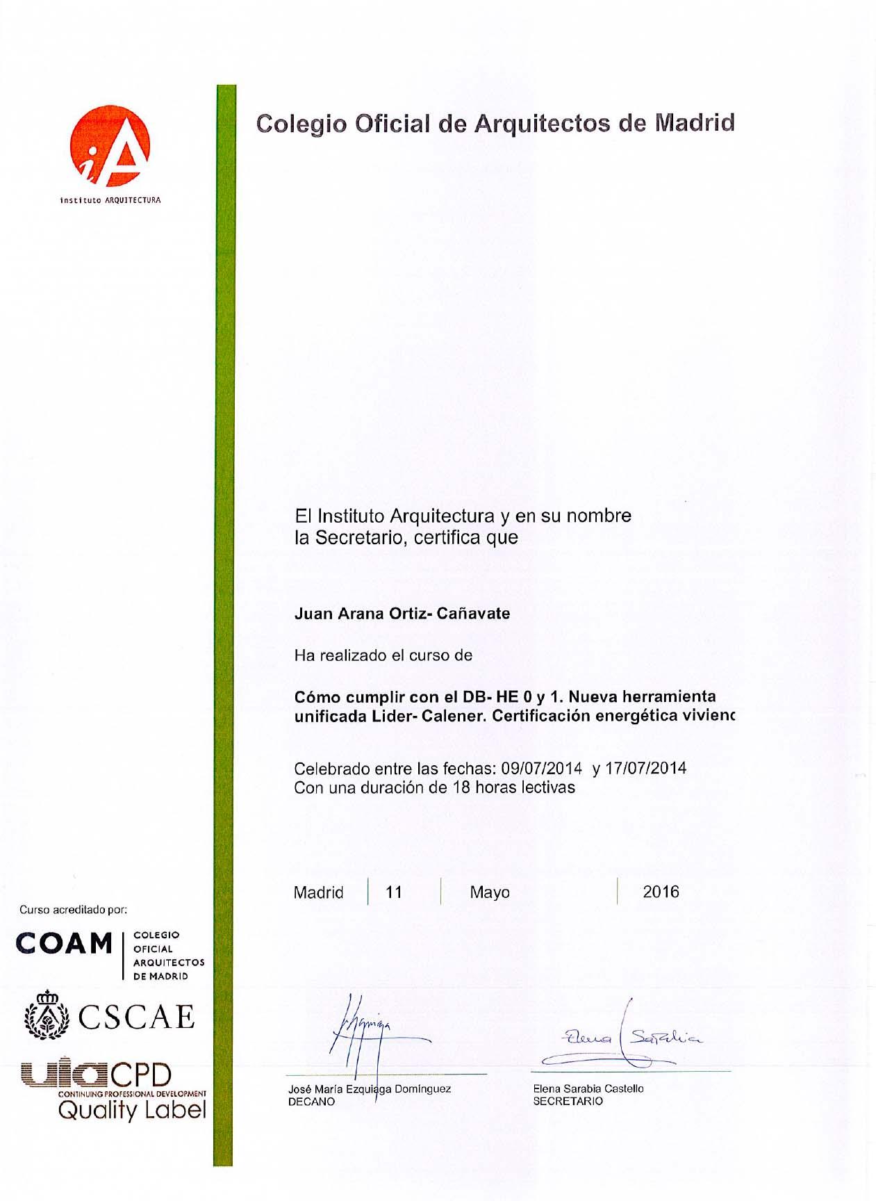 Certificación Energética II